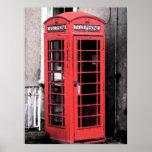 Fresco británico de la cabina de teléfono posters