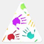 fresco calcomanía de triangulo personalizadas