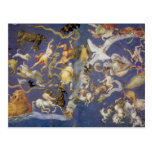 Fresco celestial de la astronomía del vintage, tarjetas postales