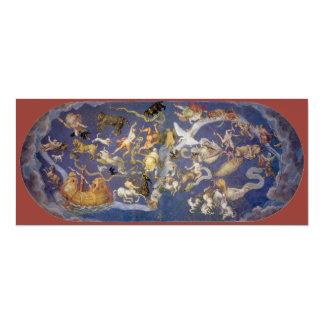 Fresco celestial de las constelaciones de la comunicados personales