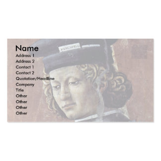 """Fresco Cycle Of The """"Legend Of The Holy Cross Double-Sided Standard Business Cards (Pack Of 100)"""