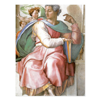 Fresco de la descripción pintado por Miguel Ángel  Postal