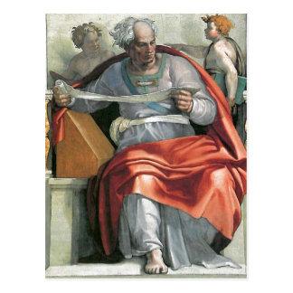 Fresco de la descripción pintado por Miguel Ángel  Postales
