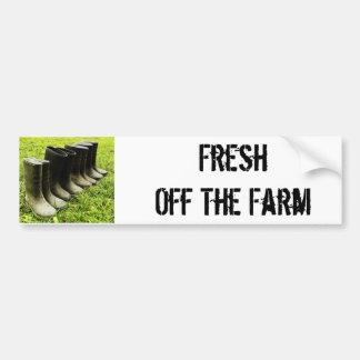 Fresco de la granja pegatina de parachoque