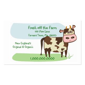 Fresco de la granja tarjetas de visita