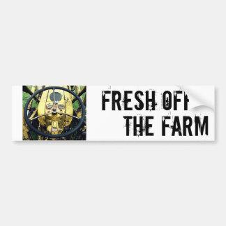 Fresco de la granja - volante del tractor pegatina para auto