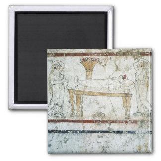 Fresco de la tumba de Gaudio c 480 A C Imán De Frigorífico