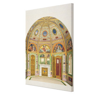 Fresco decoration in the Summer House of Buckingha Canvas Print