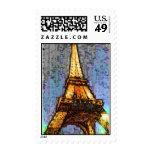 Fresco del ala de la torre Eiffel Sello Postal