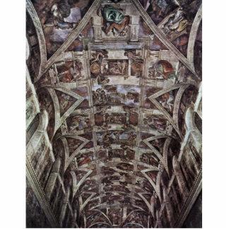 Fresco del techo para la historia de la creación e escultura fotográfica
