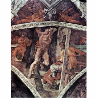 Fresco del techo para la historia de la creación e escultura fotografica