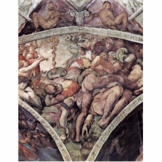 Fresco del techo para la historia de la creación e esculturas fotograficas