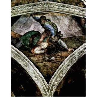 Fresco del techo para la historia de la creación e esculturas fotográficas