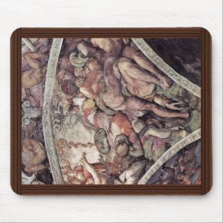Fresco del techo para la historia de la creación e tapete de raton