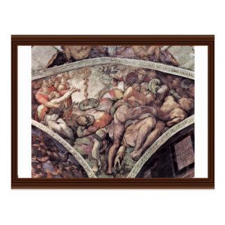 Fresco del techo para la historia de la creación e tarjetas postales