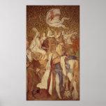 Fresco, Elisabeth-Galerie, castillo de Wartburg Impresiones