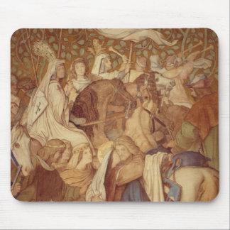 Fresco, Elisabeth-Galerie, Wartburg Castle Mouse Pad