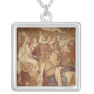 Fresco, Elisabeth-Galerie, Wartburg Castle Silver Plated Necklace