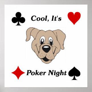 Fresco, es noche del póker posters