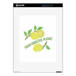 Fresco exprimido iPad skins
