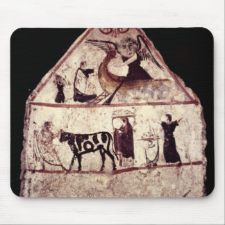 Fresco from the Tomb of Gaudio, c.480 BC Mouse Pad