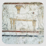 Fresco from the Tomb of Gaudio, c.480 BC Sticker