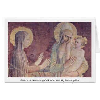Fresco In Monastery Of San Marco By Fra Angelico Greeting Card
