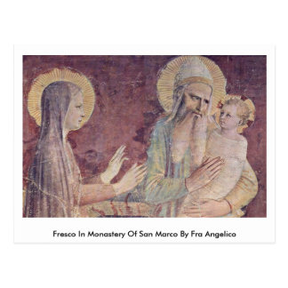 Fresco In Monastery Of San Marco By Fra Angelico Postcard