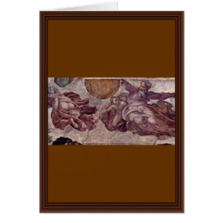 Fresco In The Sistine Chapel. The Creation Of The Greeting Card