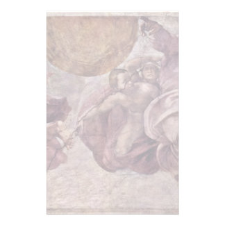 Fresco In The Sistine Chapel. The Creation Of The Personalized Stationery