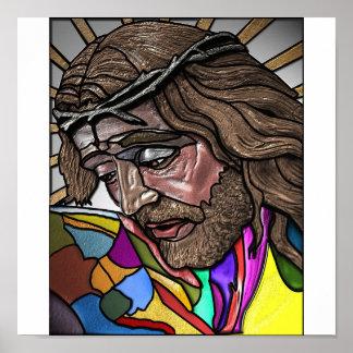 Fresco Jesus Poster