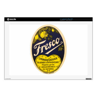Fresco Limonade Gazeuse vintage beverage label Laptop Decal