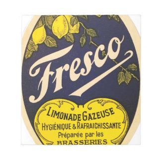 Fresco Limonade Gazeuse vintage beverage label Notepad