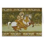 Fresco Mehrangarh Fort Jodhpur Rajasthan India Greeting Card