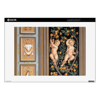 """Fresco of Cupids from the Church of St. Ambroglio, 15"""" Laptop Skin"""