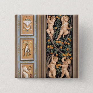 Fresco of Cupids from the Church of St. Ambroglio, Button