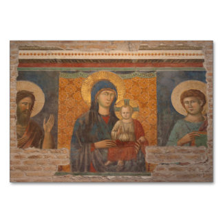 Fresco Of Madonna And Child Card
