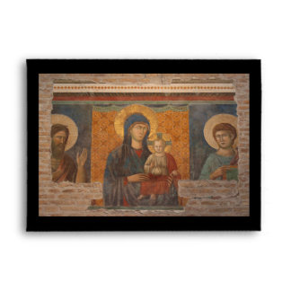 Fresco Of Madonna And Child Envelope