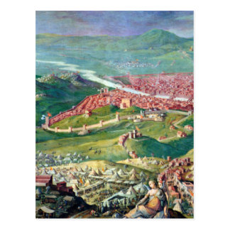 Fresco of the 1530 Siege of Florence by Giorgio Postcard