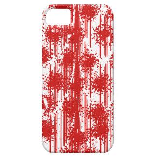 Fresco rojo sangre iPhone 5 carcasa