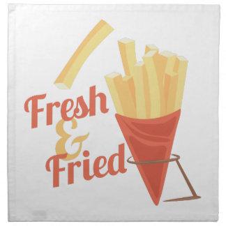 Fresco y frito servilletas