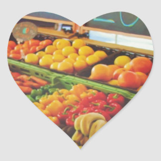 Fresco y local pegatina de corazon personalizadas