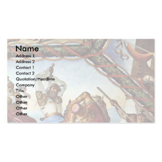 Frescoes At Casa Massimo In Rome Ariosto Hall Vaul Double-Sided Standard Business Cards (Pack Of 100)