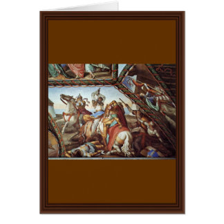 Frescoes At Casa Massimo In Rome Ariosto Hall Vaul Greeting Card