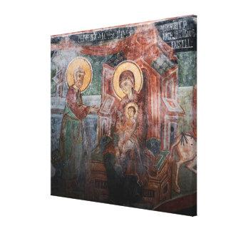 Frescoes from the 14th Century Serbian Church, 2 Canvas Print