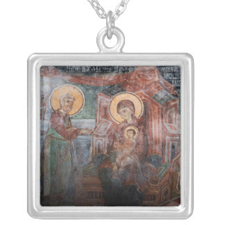Frescoes from the 14th Century Serbian Church, 2 Silver Plated Necklace
