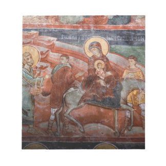 Frescoes from the 14th Century Serbian Church, Notepad