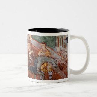 Frescoes from the 14th Century Serbian Church, Two-Tone Coffee Mug