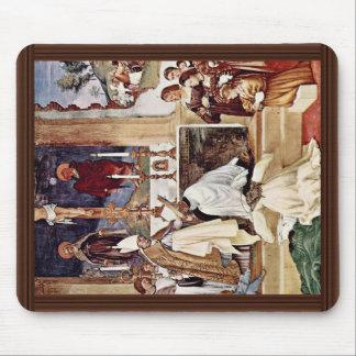 Frescoes In Oratori Suardi In Trescore Scene Garb Mouse Pads