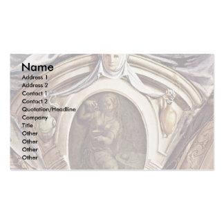 Frescoes In The Chapel Of Eleonora Da Toledo Business Card Template